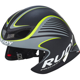 Rudy Project Wing57 Fietshelm, black-yellow fluo matte